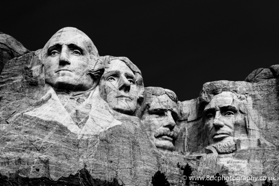 Mount Rushmore (Black and White)